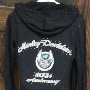 Harley Davidson 105 year anniversary hoodie